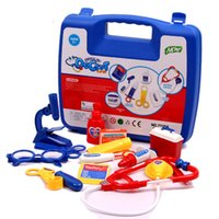 Wholesale Toy Nurse Kits - Plastic Science Educational Toys 14Pcs Set Doctor Nurse Pretend Play Medical Case Kit For Baby Kids Role Play