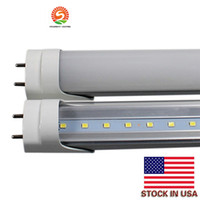 Бесплатная доставка светодиодные светильники 85V-265v Brightest 22W 4ft T8 LED Tube Lights CE FCC Approved cool White G13 Clear PC cover