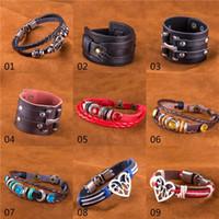 Wholesale Watch Mix Order - mixed order 50pcs lot 1pcs model pu leather steampunk bracelets infinite believe love watch charms leather bracelets for women girls #BA161