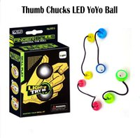 Wholesale Thumb Chucks LED Yoyo Balls Luminous Fidget Toys For Stress Relief Glow Roll Anti Stress Fidget Hand LED Yo Yo Balls vs Fidget Spinners