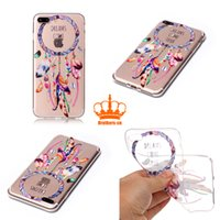 Wholesale Casing Ip5 - Super Soft TPU Clear Case with Printing Cover Case protector Cellphone for iP5 6 7 Samsung A3 5 7 HUAWEI Sony