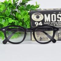 Wholesale Johnny Depp Lens - Brand 2017 Brand design Moscot lemtosh eyewear johnny depp glasses top Quality brand round eyeglasses frame with Arrow Rivet