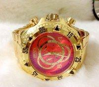 cuarzo brasil al por mayor-Brasil Nueva Moda Hombres Dial de acero inoxidable del reloj de oro de alta calidad Hombre Relojes de cuarzo reloj de pulsera Hombre Negro / envío libre del oro