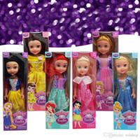 Wholesale Rapunzel Doll Animators - 10 Inch Boxed Princess Animators Sharon Doll Princess Sofia Snow White Ariel Rapunzel Merida Cinderella Aurora Belle Princess Dolls For Girl