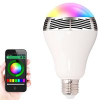 Wholesale bluetooth speaker 3w - TOPSTAND Smart LED bulb Wireless Bluetooth Audio Speakers 3W E27 LED RGB Light Music Bulb Lamp Color Changing via Mobile App Control
