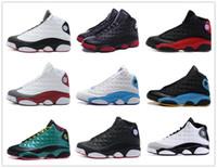 Wholesale Black Flight - retro 13 basketball shoes history of flight HOF DMP black cat he got game play off barons sneakers men women Sports shoes 2017