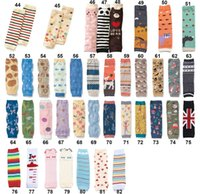 Wholesale Girl Legging Leopard - INS Baby Cartoon Leg Warmer Toddler Legwarmers Wholesales Boy and Girl Designs Zebra Leopard Printed Legwarmers Over 86style Drop Shipping