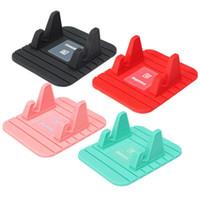 mattenhalter für telefon großhandel-4 farbe Fee Mini Multifunktions Weiche Silikon Desktop Ständer Anti Slip Mat Halter für Telefon Ipad montieren steht Halterung unterstützung GPS f