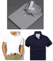 Wholesale Shirt Small - 2018 Polo Shirt Men Big small Horse crocodile tommy Camisa Solid Short Sleeve Summer Casual Camisas Polo Mens shipping free