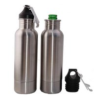 Wholesale Stainless Steel Bottle Openers - Beer Bottle Armour Koozie Keeper 12oz Stainless Steel keeper Armour Bottle Koozie Insulator with Bottle Opener 3002026