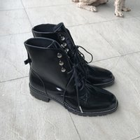 Wholesale Italian Ankle Boot - 2016 New Italian Style Women Boots Genuine Leather Round Toe Women Motorcycle Boots Lace Up Shoes Women Zapatos Mujer