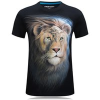 lion king t shirt 2018 - Plus Cotton High Realistic 3D Digital Print Lion King Men's Loose T-shirt Male Short Sleeves Tees Tops Summer