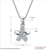 Wholesale Eiffel Tower Sweaters - 2017 NEW Real Sale 925 Sterling silver Summer Eiffel Tower Necklace Of Small Flowers Fit Original Fashion Jewelry Fine Sweater Chain Woman