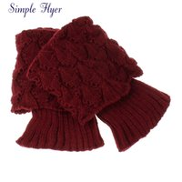 Wholesale Ladies Crochet Shorts Wholesale - Wholesale- SIF 2016 New Women Ladies Crochet Knitted Shell Design Boot Cuffs Toppers Knit Leg Warmers Winter Short Liner Boot Socks
