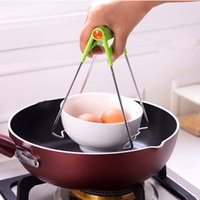 Wholesale take bowl - Stainless Steel Take Bowl Clip Anti-scald Mention Bowl kitchen Device Anti-Scald Clamp Clip Plate Bowl Dish Holder