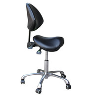 Wholesale Dental Mobile - Standard Dental Mobile Chair Saddle Doctor's Stool PU Leather Dentist Chair Spa Rolling Stool with Back Support for Beauty