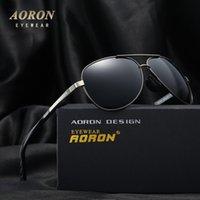 Wholesale Leisure Glasses - 2017 AORON Brand Original Polarized Sunglasses Men's Fashion Designer Glasses Oculos Gafas Women's Classic Leisure Goggles S210A