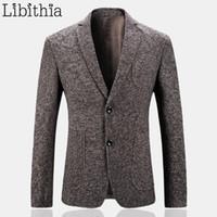 Wholesale long camel coat men - Wholesale- Men Fashion Blazer Jackets M-3XL Formal Suits Coats Slim Fit Masculino Top Quality Casual Clothes Male Veste Homme Camel K233