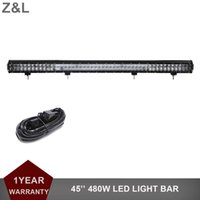 45 Inch 480W Offroad LED Light Bar Driving Lamp Barco Carro Truck 4x4 SUV ATV 4WD Auto Tractor AWD UTE Combo Camper Headlight