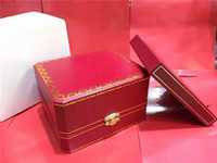 Wholesale Certificate Card - High quality Luxury Brand Red Original Mens Watch Box Gift Womens Watches Boxes Certificate Cards Books