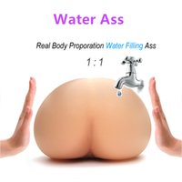Wholesale Silicone Ass Vagina - Solo Flesh Sex Doll Male Masturbactor Injecting Warm Water Filling Inflatable Silicone Realistic Pussy Real Body Temperature Big Ass Toy