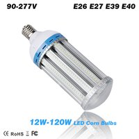 Wholesale e26 e27 base bulb - 12W - 120W LED corn bulbs E26 E27 E39 E40 lamp Base Garden Lights Warehouse & parking lot lighting