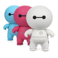 Wholesale Big Button Cell - Cartoon Mini Wireless Bluetooth Speaker BayMax Subwoofer TF Card USB Aux input Music Player Big Hero Cartoon Figure Speaker for Cell Phone