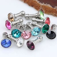 100 pièces Crystal Bling Diamond 3.5mm Cell Phone Earphone Jack Anti Dust Plug pour Iphone Samsung Huawei xiaomi Accessoires