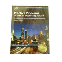 Wholesale Civil Engineering Reference Manual - Practice Problems for the Civil Engineering PE Exam :A Companion to the Civil Engineering Reference Manual 978-1591265108