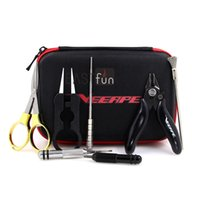 Wholesale Jigs Bags - 100% Original Veeape E Cigarette Tools Vape Tools Kit Carry Bag With Tweezer Pliers Coil Brusher Jig Scissors For DIY Atomizer RDA RTA RBA