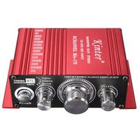 dvd hi fi al por mayor-Mini 2CH Hi-Fi Stereo Amplifier Booster Soporte DVD CD Entrada MP3 para el hogar de la motocicleta del automóvil CAU_103