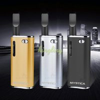 Wholesale Ecigarette Cartridges - Wholesale Mystica Mini Vaporizer CBD Oil BUD Starter Kit 650mah Box Mod Gold Vape Pen Cartridges With CE3 Atomizer Magnetic Ecigarette