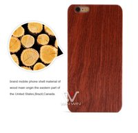 Wholesale Iphone Cover Personalized - DIY LOGO Customized Wood Phone Case for iPhone 5S 6 6Plus 7 7PLus Blank Wooden Mobile Phone Back Cover Protector Cover Photo Personalized