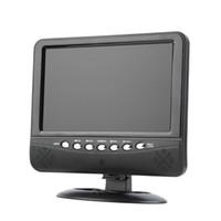 tv avi venda por atacado-Venda por atacado-Hot! 9.5 polegada Portátil LCD Color TV Analógica Mini TFT Digital TV Monitor Móvel de Controle Remoto MMC AVI / MP3 EUA / plugue DA UE
