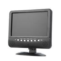 Wholesale Digital Lcd Color Tv - Wholesale- Hot sale! 9.5 inch Portable LCD Color Analog TV Mini Digital TFT Mobile TV Monitor Remote Control Support MMC AVI MP3 US EU plug