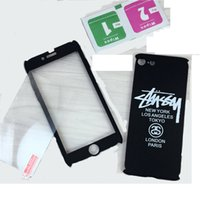 Wholesale Smile Phone Cases - For iphone 7 plus Fashion Phone Smile Face 360 Full Degree Case With Tempered Glass For iphone 7 6 6s plus Opp Bag