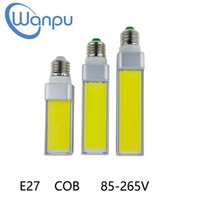 Wholesale plug spotlight lamp resale online - LED Bulbs W W W E27 G24 G23 E14 V LED Corn Bulb Lamp Light COB Spotlight Degree AC85 V Horizontal Plug Light