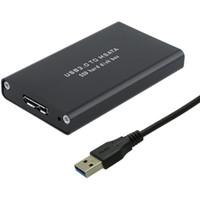 mini sata ssd toptan satış-MSATA SSD Kasaya toptan 5Gbps USB 3.0 mini-SATA Sabit Disk adaptörüne USB3.0 M2 SSD Harici HDD Taşınabilir Kutusu