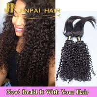 Wholesale Human Hair Weave For Braiding - Jinpai Hair NEW Braid In Bundles Virgin Curly Human Hair Weave 300 Grams Braiding Hair For Women
