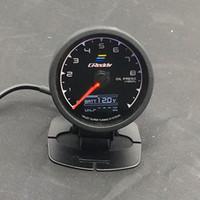 Wholesale Digital Multi Gauge - 62mm 2.5 Inch 7 Color in 1 Racing GReddy Multi D A LCD Digital Display Oil Press Gauge Oil Pressure Sensor