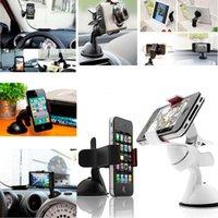 samsung s5 autohalter großhandel-Universal Car Windschutzscheibenhalterung Handyhalter 360 Einstellbare Tablet PC Halterung Bett Faule Zelle Ständer Unterstützung für iPhone 6S 7 Plus für Samsung S5