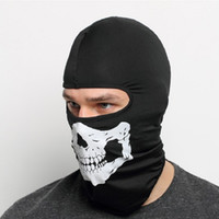 Wholesale Breathing Face Mask - 2017 NEW CS Cosplay Ghost Skull Black Full Face Mask Motorcycle Biker Balaclava Breathing Dustproof Windproof mask Skiing sport masks