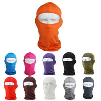 Wholesale Cycle Headwear - HOT SALE Outdoor Protection Full Face Lycra Balaclava Headwear Ski Neck Cycling Motorcycle Mask