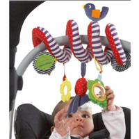 Wholesale bell seats - Wholesale- Newborn Baby Infant Music Hanging Bed Safety Seat Plush Toy Bell Multifunctional Toy Stroller Rattle Mobile Child Gifts