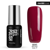 Wholesale Sale Uv Gel Nail Polish - Wholesale-Modelones 7ML Hot Sale Color Nail Gel Polish UV Lamp Nail Gel Lacquer French Red Nail Polish Soak Off Gel For Christmas Gift