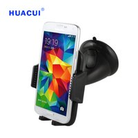 Wholesale Mobile Phone Retractable Car Holder - Newest High Quality Black Universal Car windshield Retractable Rotate Mobile Phone Car Mount Holder 065-072