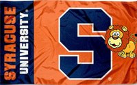 bandera naranja al por mayor-Syracuse Orange Flag Fanáticos Fanáticos de la bandera interior al aire libre 5x3ft