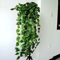 Wholesale Plant Green Houses - 90cm Artificial Hanging Vine Fake Green Leaf Garland Plant Home Decoration (35 inch length) 3 style for choose