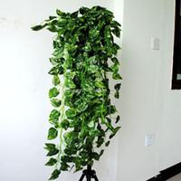 künstliche dekoration hängende pflanzen großhandel-90cm künstliche hängende Rebe Gefälschte grüne Blatt-Girlanden-Betriebsausgangsdekoration (35-Zoll-Länge) 3 Art für wählen