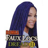 Wholesale Crochet Loops - Wholesale-Popular Synthetic Hair Extension 18inch 80g Blue Golden Color Faux Locs Crochet Braids Loop Dreads Braiding Dreadloc Hard Hair